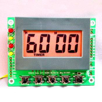 99 Stunden 59 Minuten Countdown / Up Timer-Modul mit Bernstein Color-LED-Hintergrundbeleuchtung