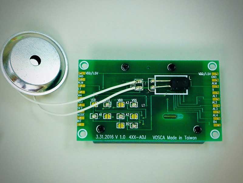 Back View of LCD alarm clock module